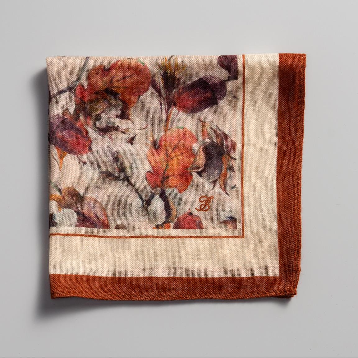 15c52942cfdfe Leaf print pocket square | Tailor Store