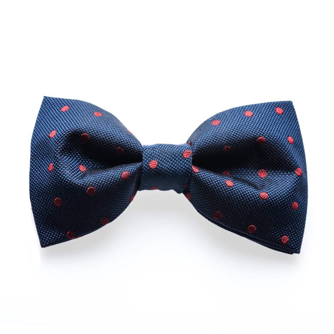 Venton Crimson - noeud papillon à pois Bleu/Rouge