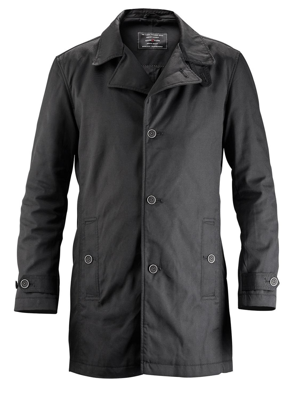 Sort skræddersyet casual car coat
