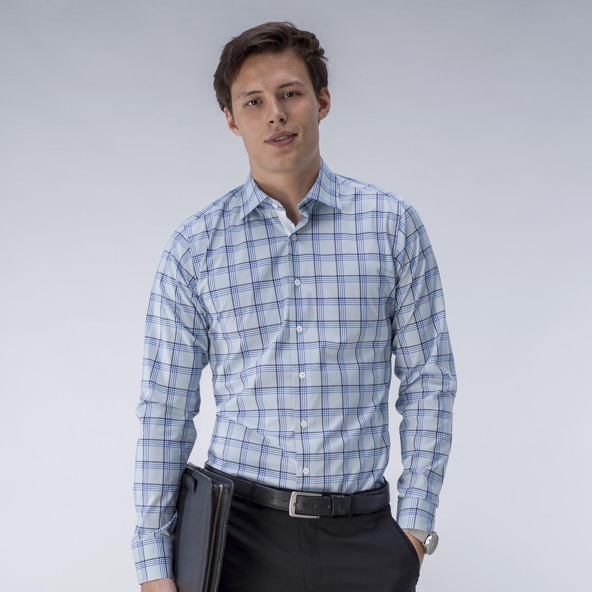 Light blue checked shirt