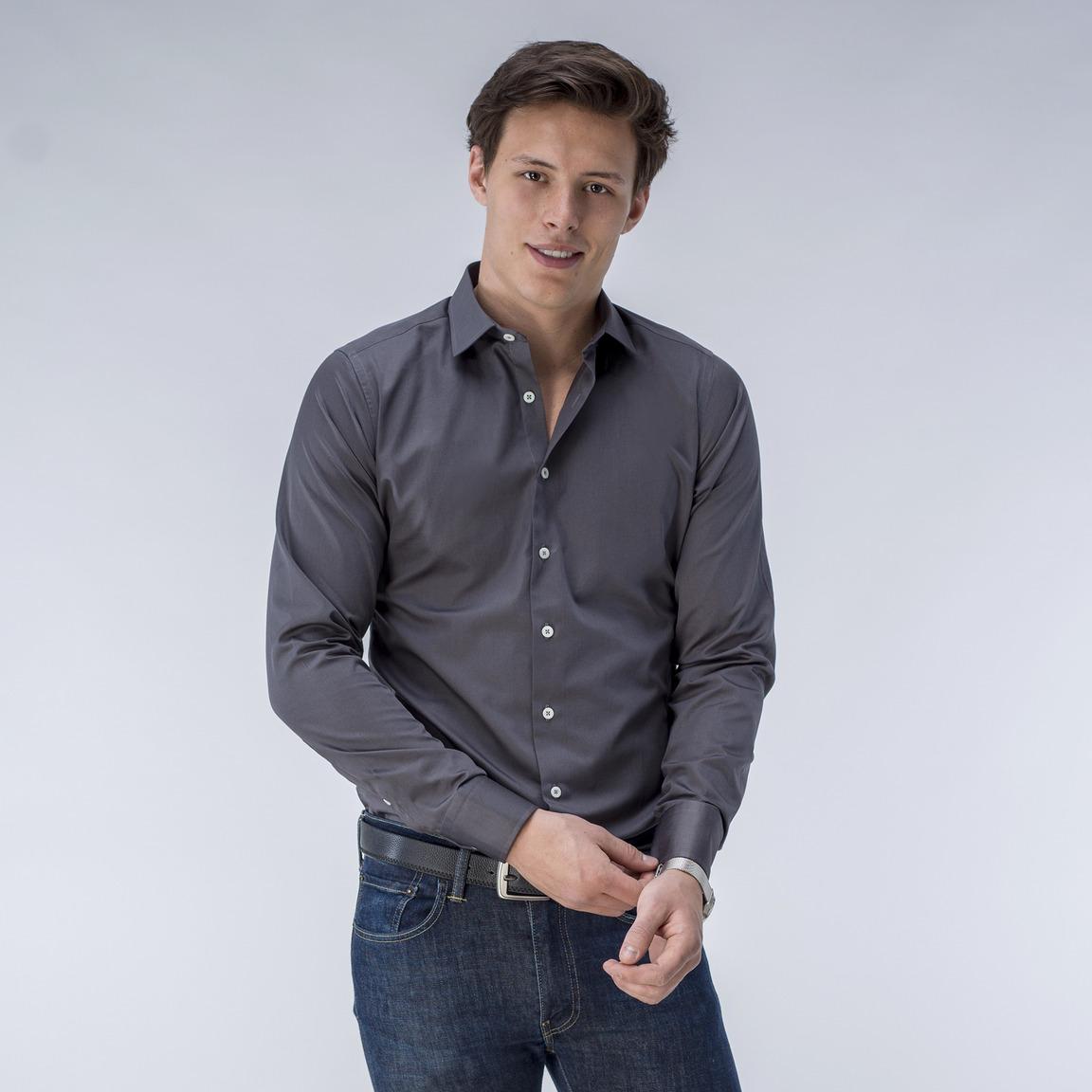 Gray business shirt