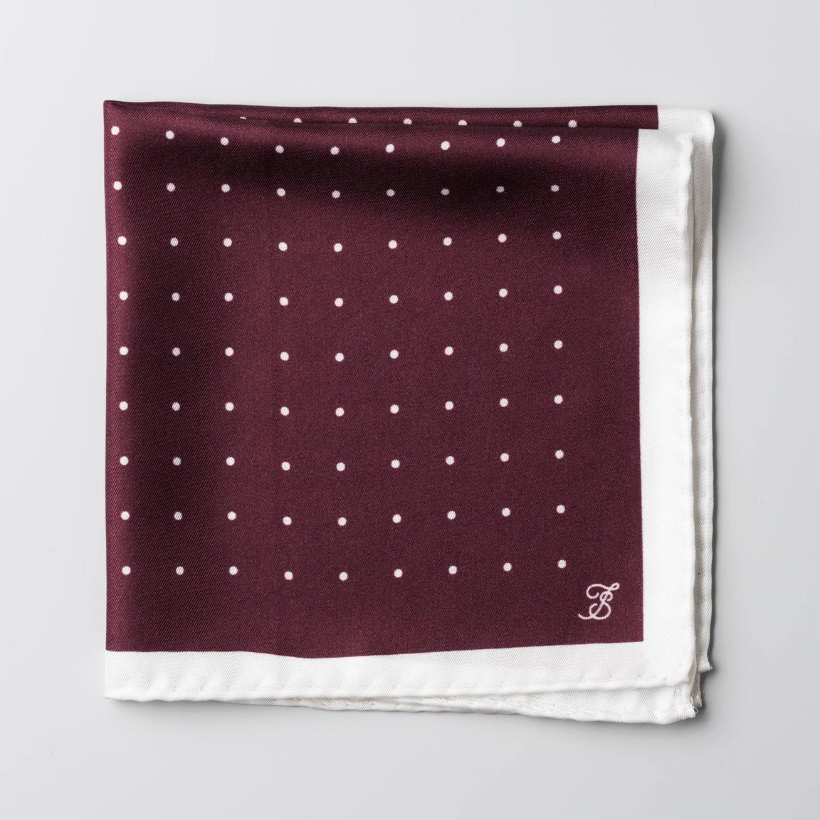 Maroon and white silk handkerchief
