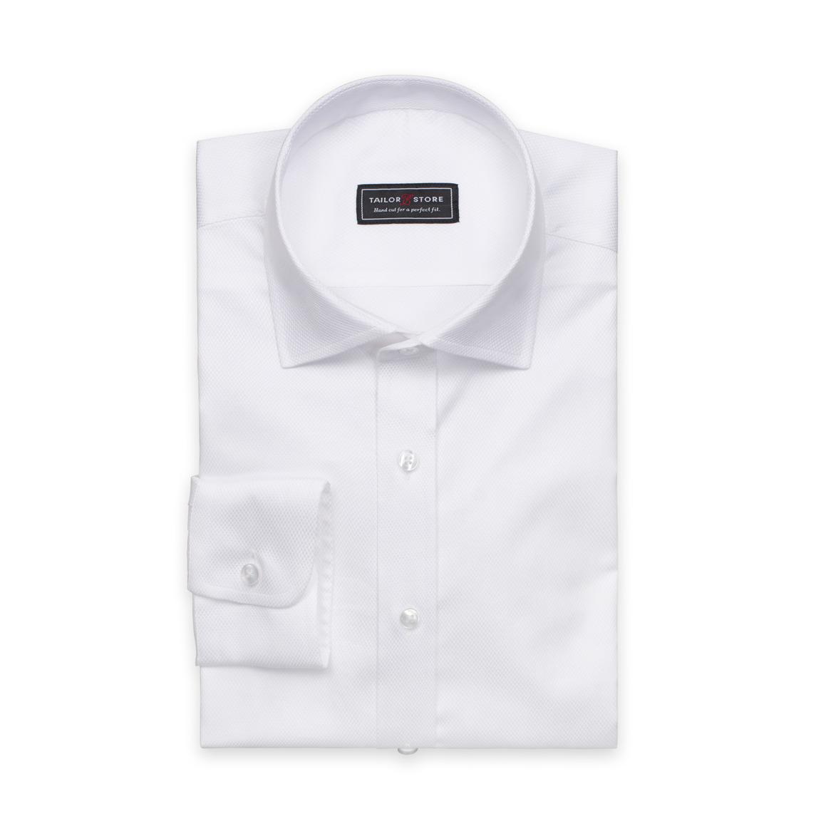 White dobby weaved cotton shirt