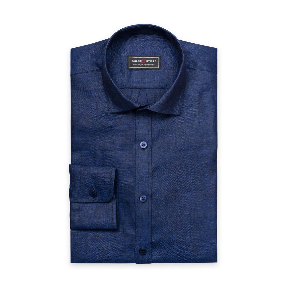 Navyblaues Leinenhemd