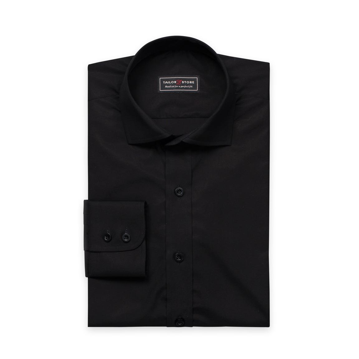 Black premium-poplin shirt