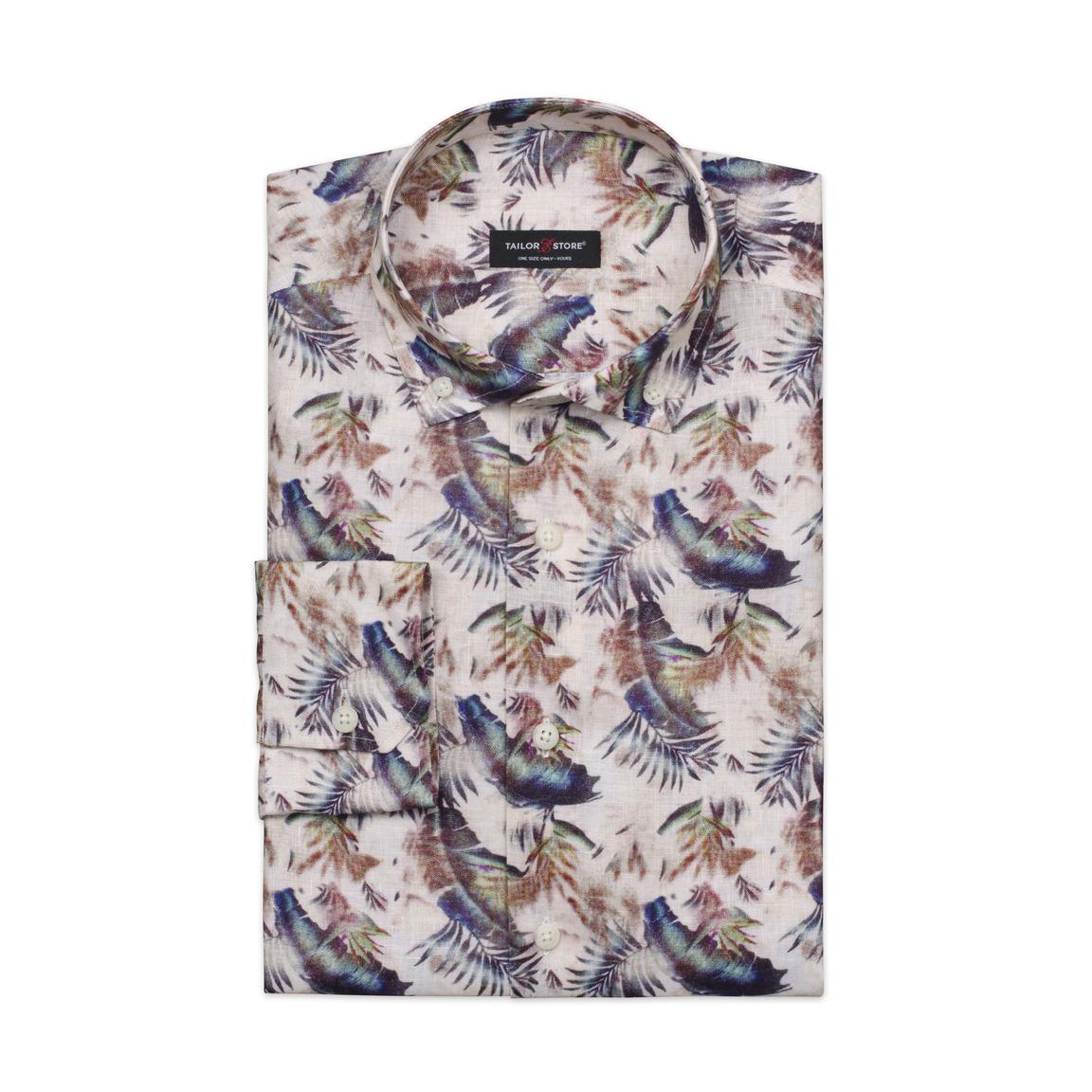 Limited Edition, Leinenhemd mit Federn