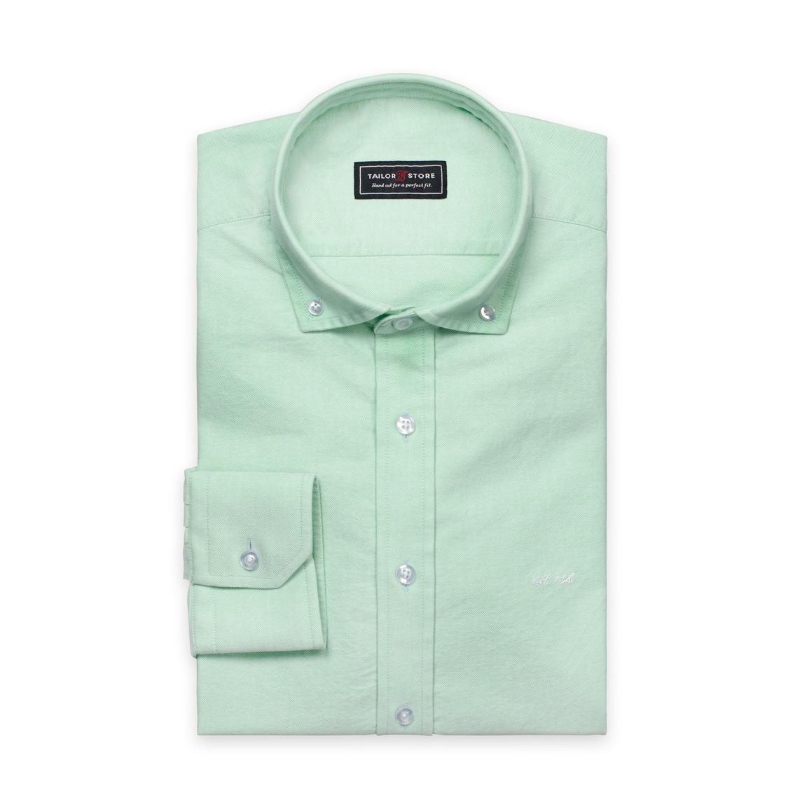 Green button-down Oxford shirt