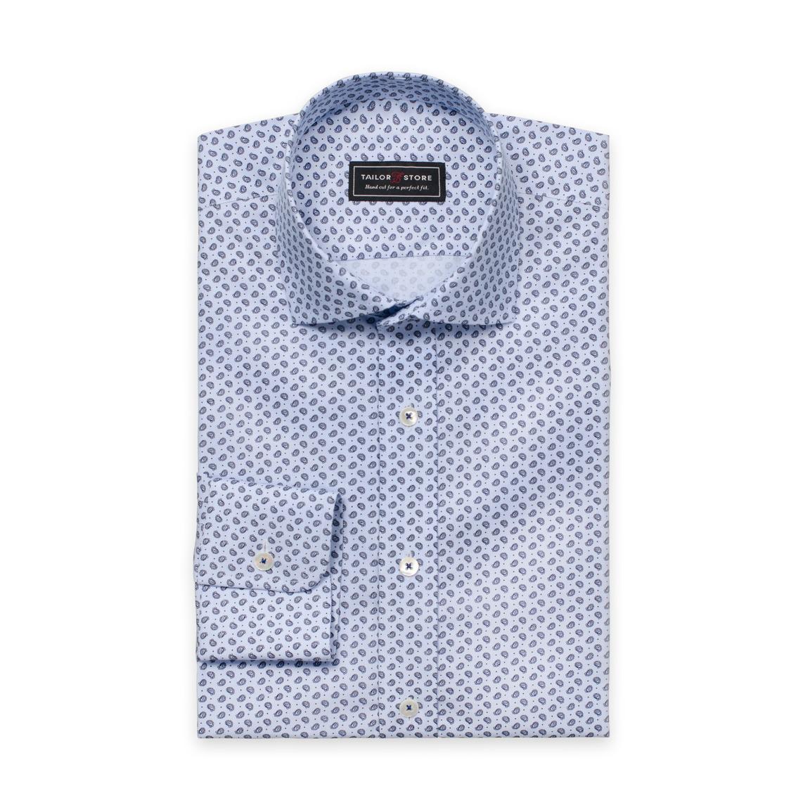 Mønstret cut-away classic bomullsskjorte