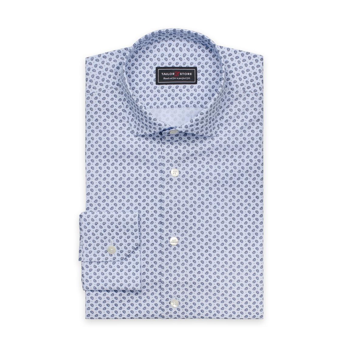 Vaaleansininen paisleykuviollinen paita