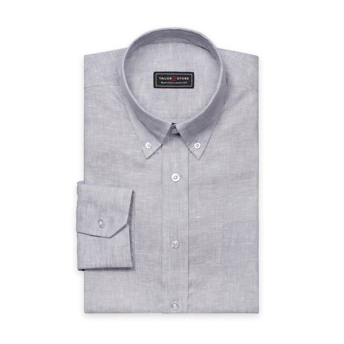 Ljusgrå linneskjorta