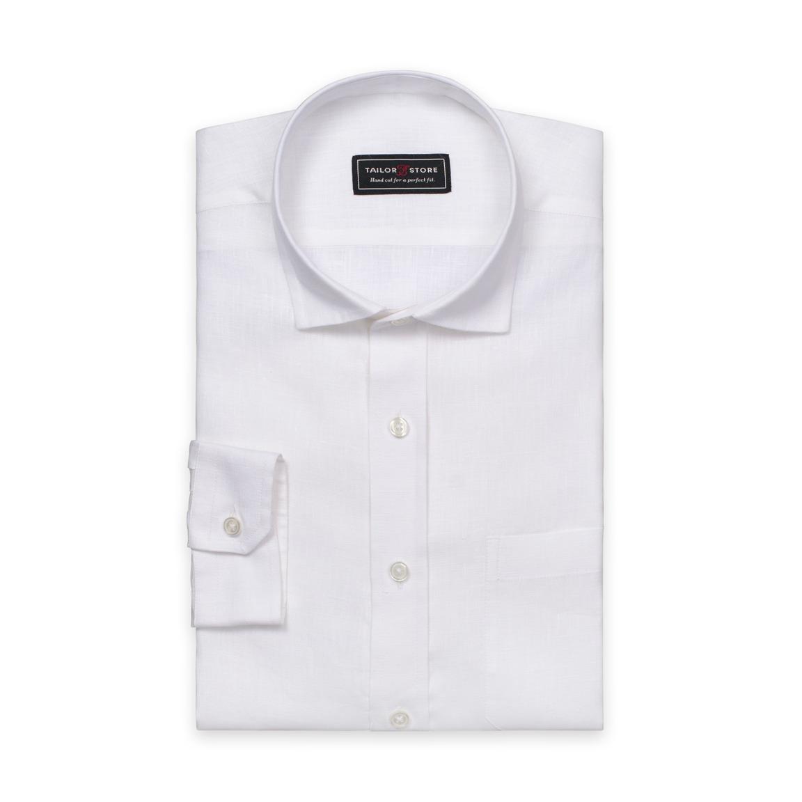 Weißes Leinenhemd