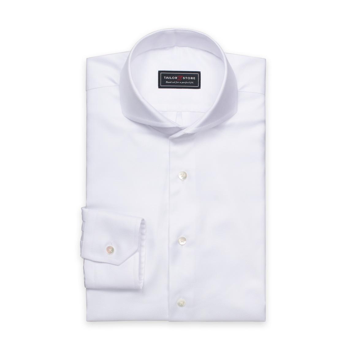 Hvit twillskjorte