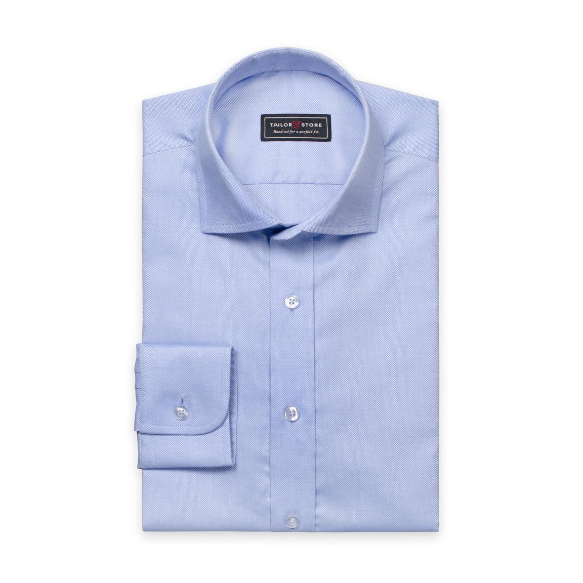 Blå Oxford cut away classic-skjorte