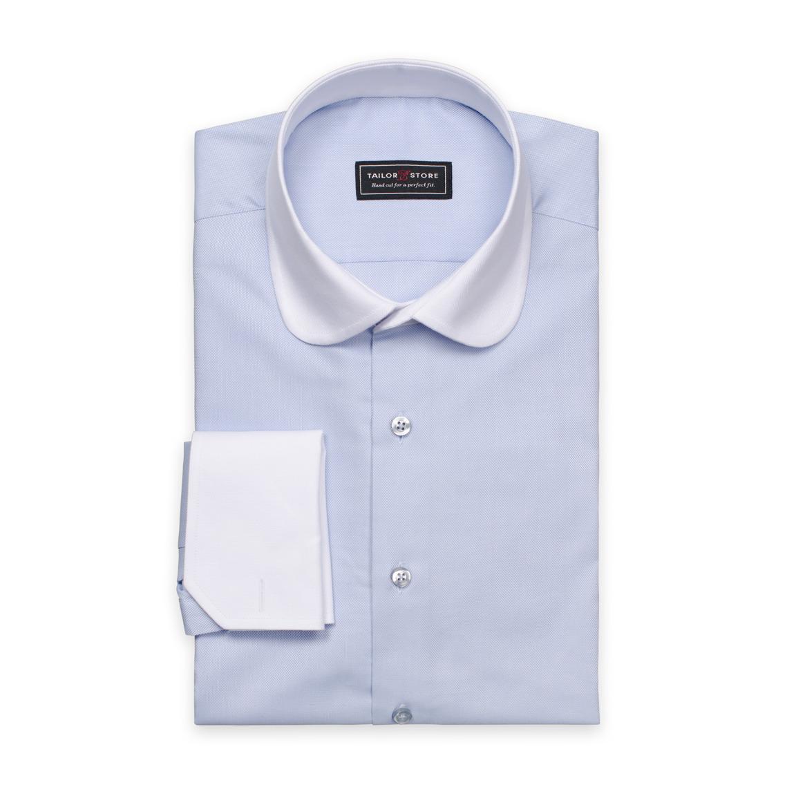 Oxford-Hemd mit weißem Kragen