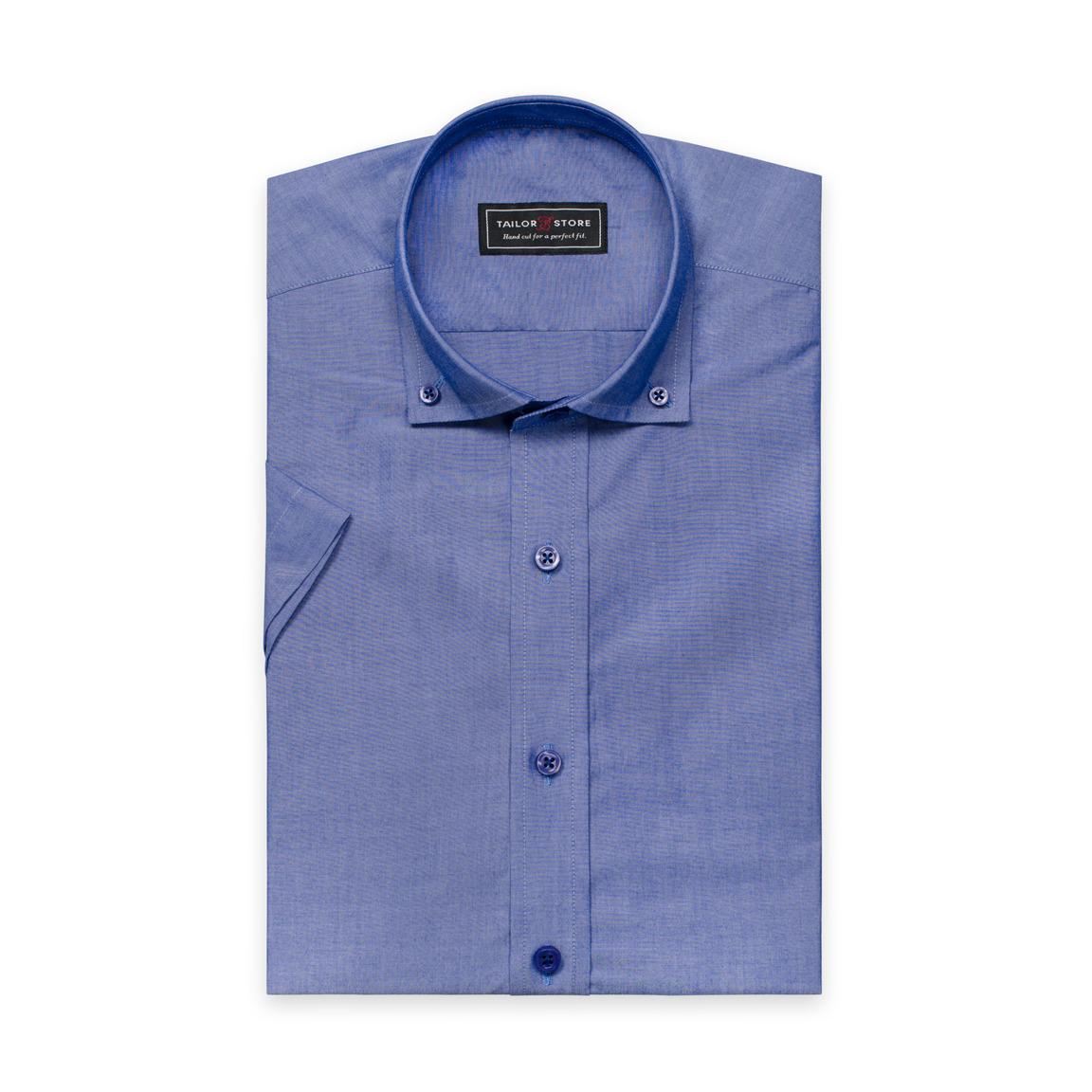 Dark blue button-down modern shirt