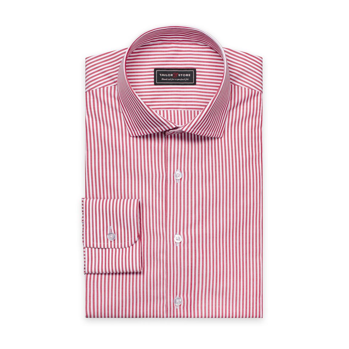 Chemise rayée en popeline Rouge/Blanc