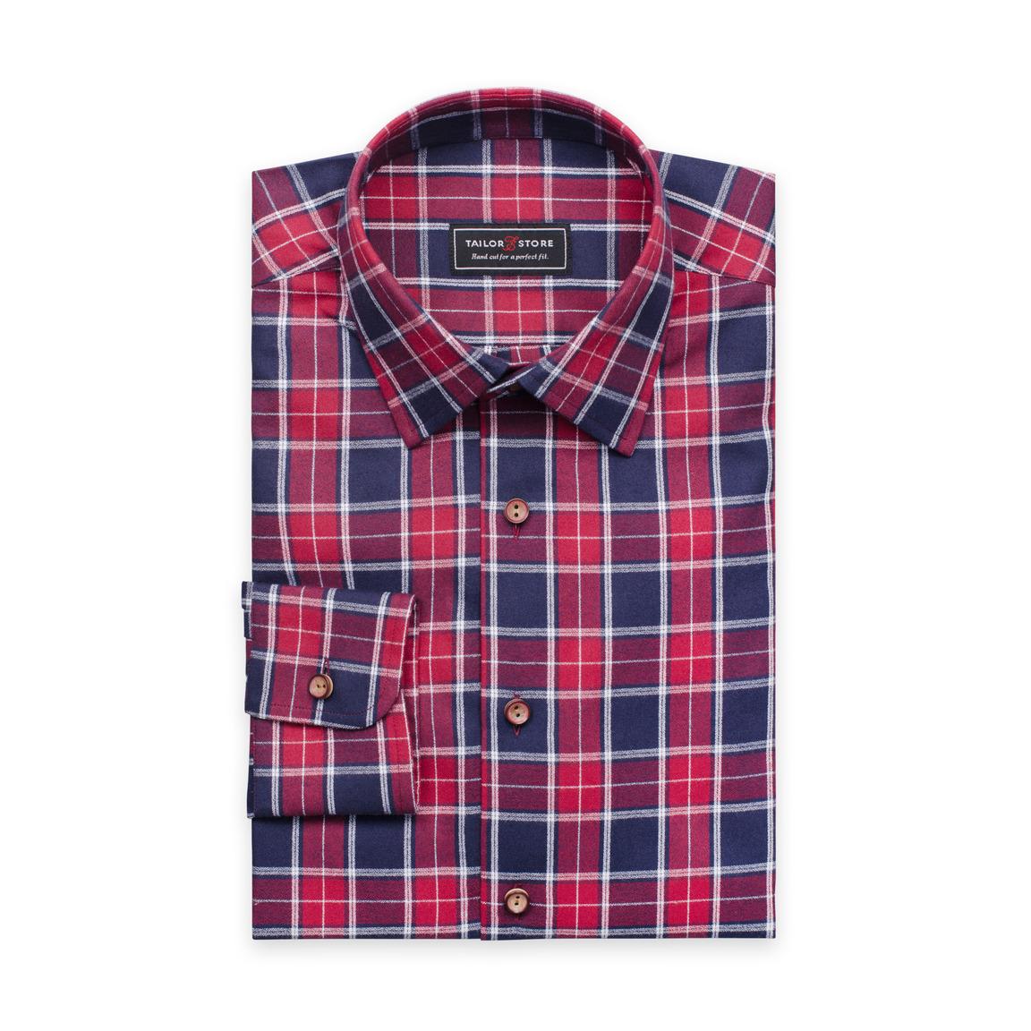 Ledig och mjuk rödrutig skjorta
