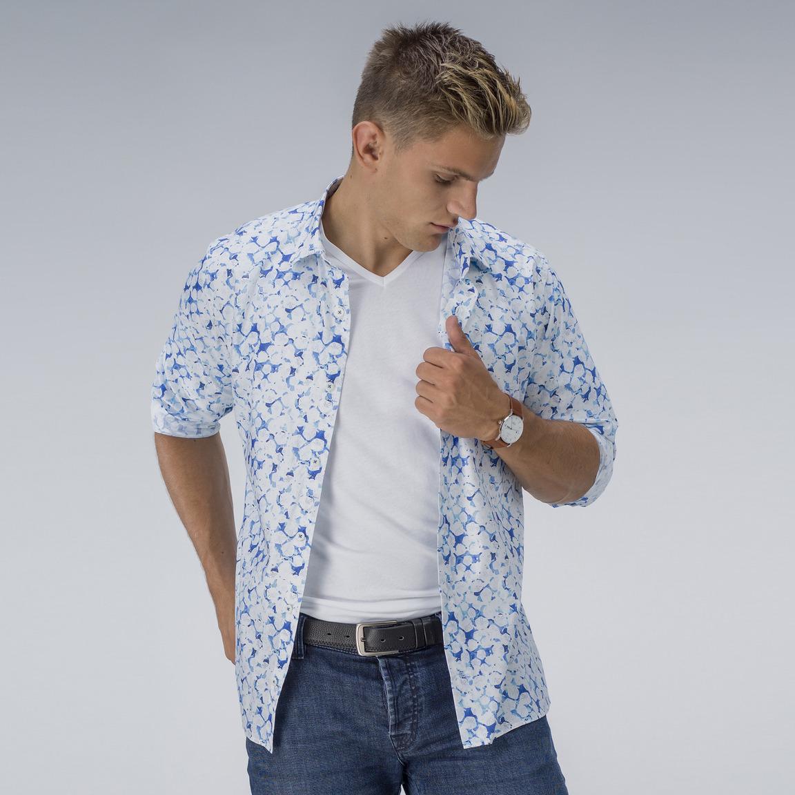 Gedrucktes Hemd aus Gizabaumwolle