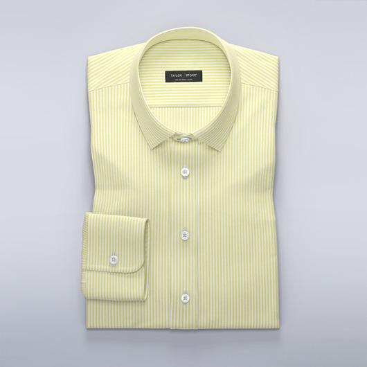 Gestreiftes Hemd Gelb/Weiß