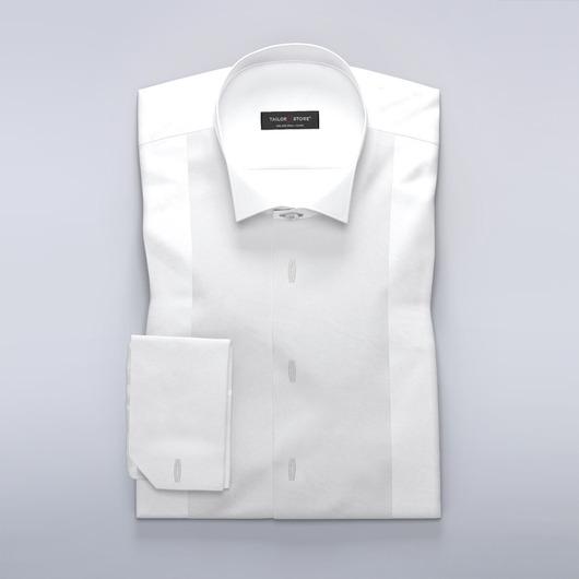 Klassisk white tie-skjorte med stolpelukning til skjorteknapper