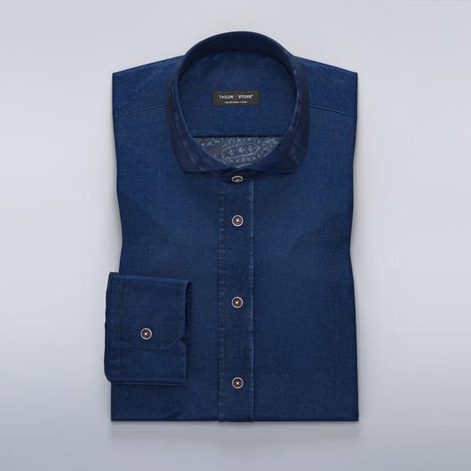Koszula dżinsowa z nadrukowanym wzorem paisley