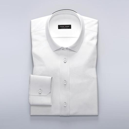 Chemise blanche en laine mélangée