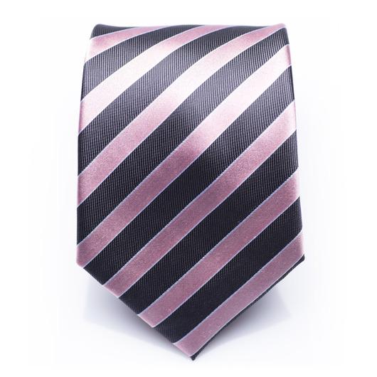 Hollindale Azalea - Pink/blue striped silk necktie