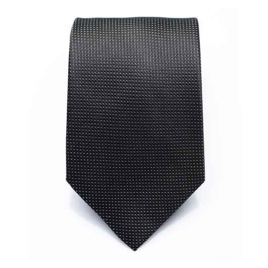 Dayton Raven - Black silk necktie