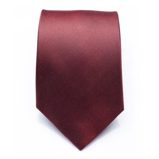Kingsdale Carmine - cravate en soie rouge