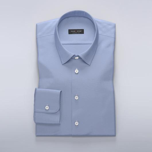 Blå skjorte i bomullssateng