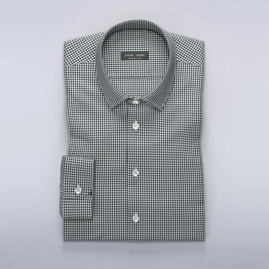 Koszula w czarno-białą kratkę