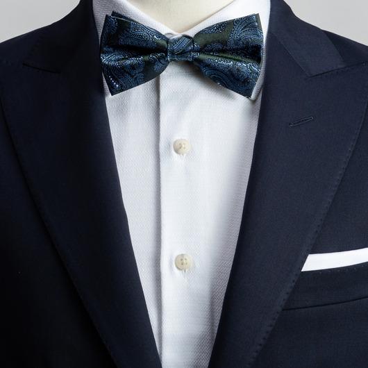Green paisley bow tie