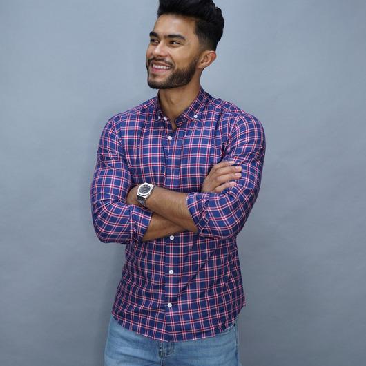 TMF Checked casual dress shirt
