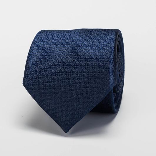 Marineblått silkeslips