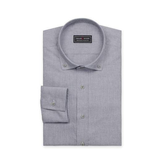 Dark gray twill weaved button-down shirt
