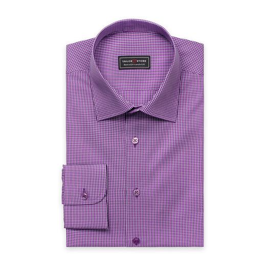 Lila/weiß kariertes business classic Hemd