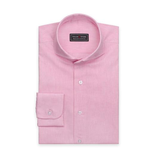 Hellrosa Hemd aus Baumwolle/Leinen