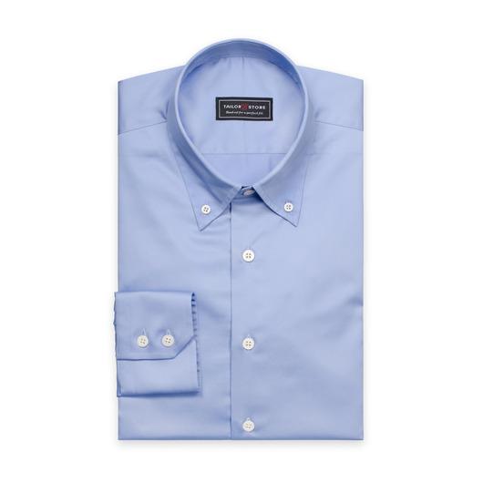 Chemise bleue en coton satiné