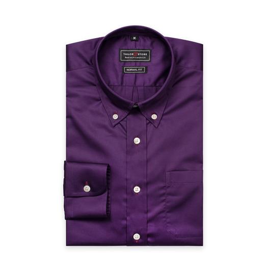 Dark purple satin cotton shirt