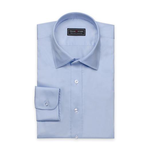 Hellblaues Hemd aus Satinbaumwolle
