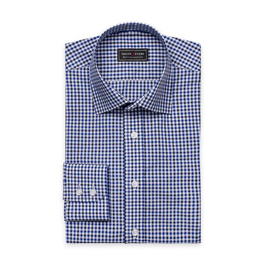 White/Navy/Blue checked shirt