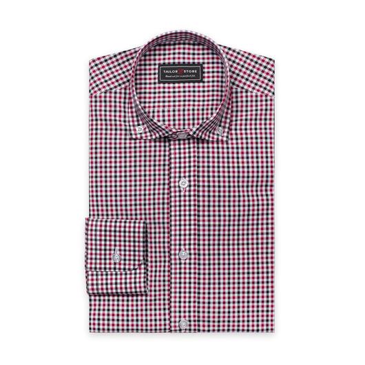 Chemise à carreaux Blanc/Noir/Rouge bordeaux