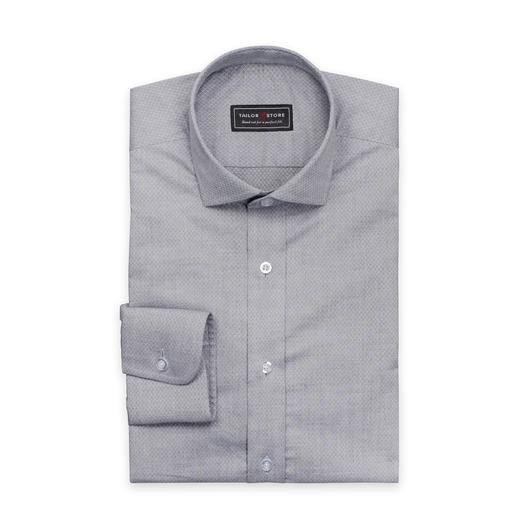 Gray jacquard weaved cotton shirt