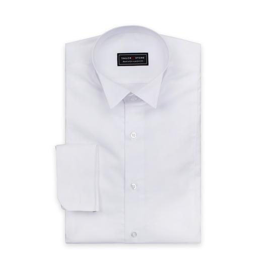 Vit fracksskjorta med snibbkrage
