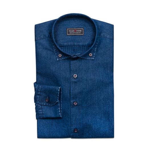 Trendiges indigo Denim-Hemd