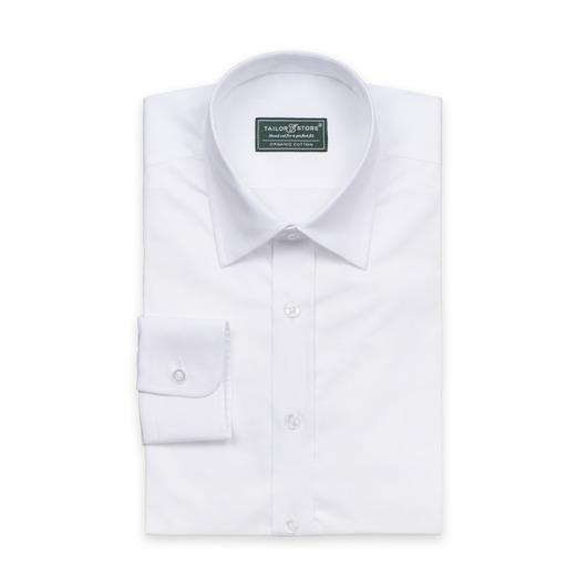 Økologisk forretningsskjorte i hvit toskaft