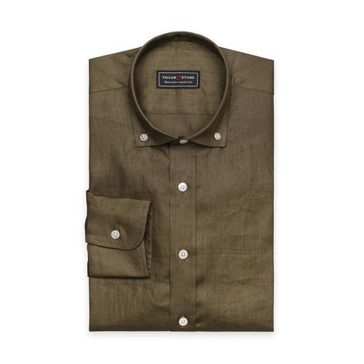 Military green linen shirt