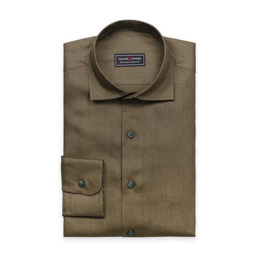 Leinenhemd in Militärgrün