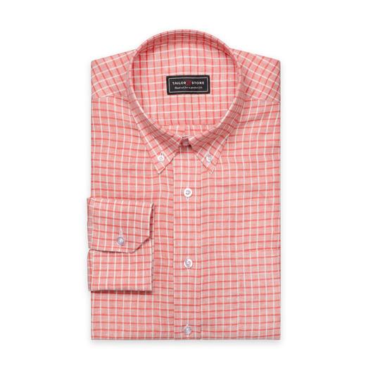 Red linen shirt