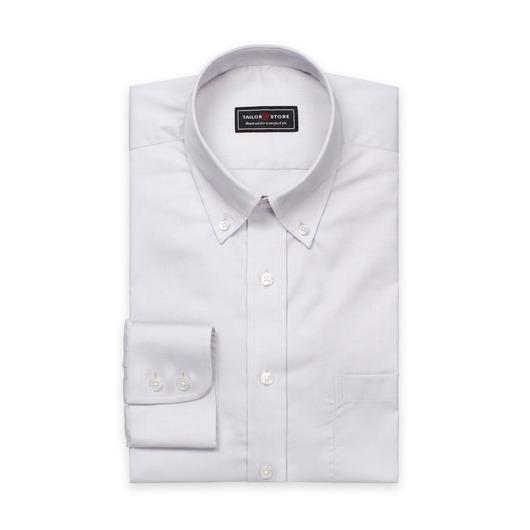 Lysegrå oxfordskjorte
